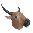 Cow Latex Mask